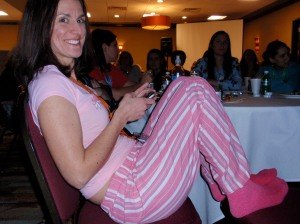 Adorable, unidentified pajama party girl from Blissdom09