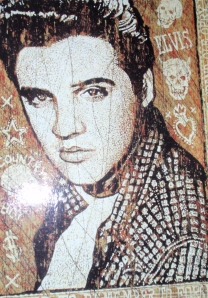 Elvis - artwork in the lobby of Preston Hotel, Nashville